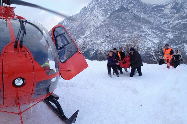 Urgjenca Kombëtare me një helikopter të vetëm