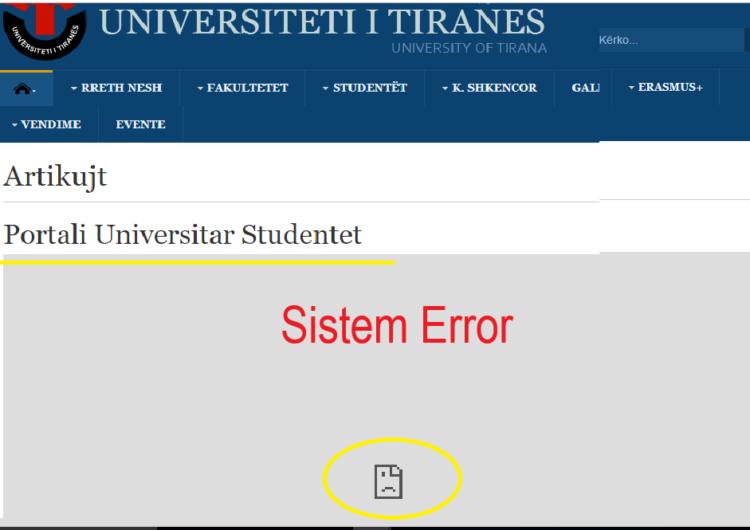 """Portali që la në """"baltë"""" studentët"""