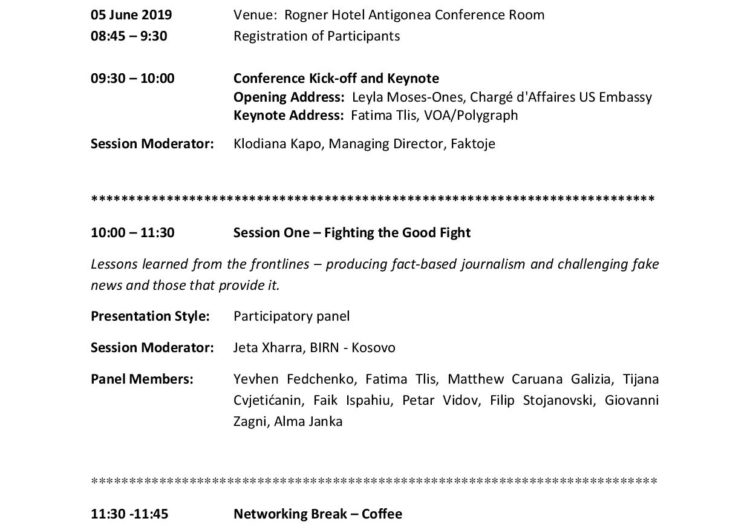 Disinformation: Facing the Facts in the Balkans and Beyond Conference